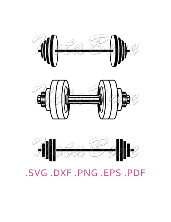 Dumbbell clipart silhouette. Pin on products