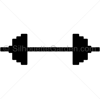 Barbell clipart silhouette. Clip art download free