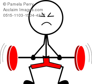 Barbell clipart stick figure. Clip art image of