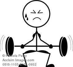 Barbell clipart stick figure. Sports clip art guy