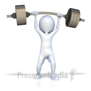 Barbell clipart stick figure. Lifting dollar weights sports