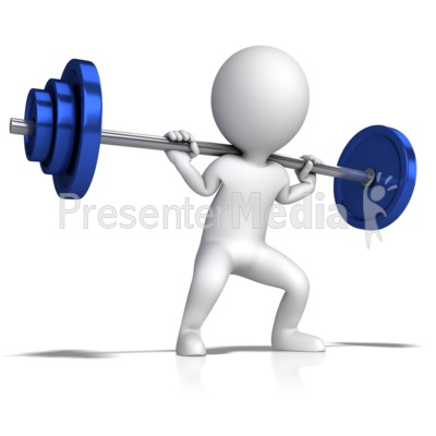 Barbell clipart stick figure. Doing squats presentation great