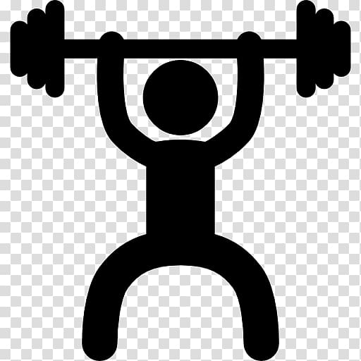 Person lifting barbell exercise. Dumbbell clipart fitness centre