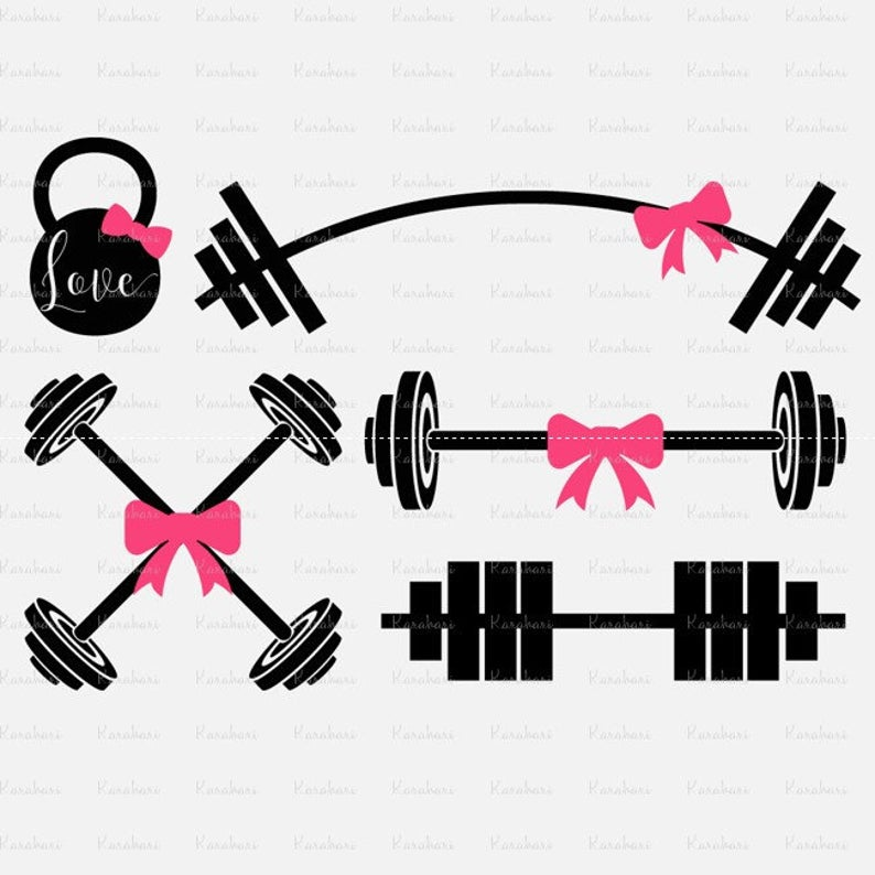 Dumbell fitness digital for. Barbell clipart svg