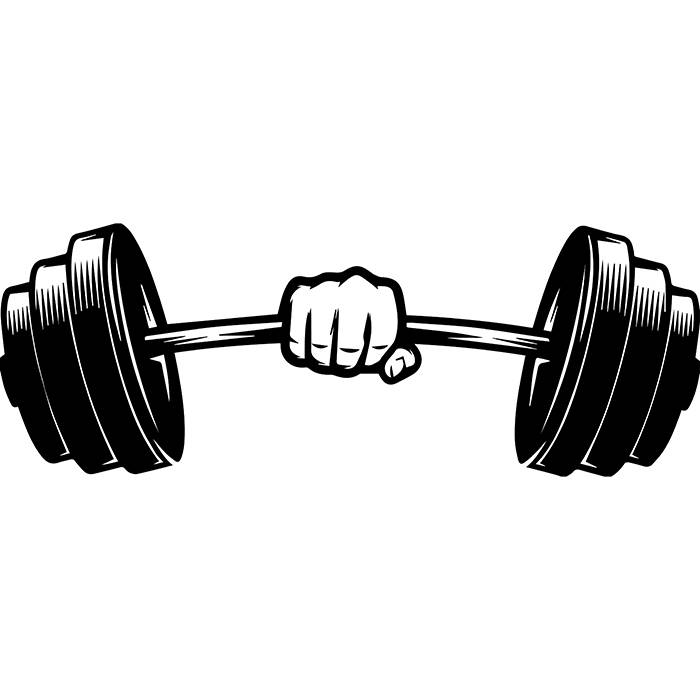 Hands bar weightlifting bodybuilding. Barbell clipart svg