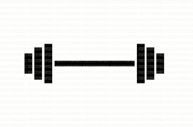 Barbell clipart svg. Weights fitness digital file