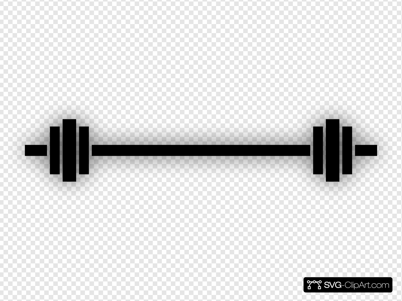 Barbell clipart svg. Clip art icon and
