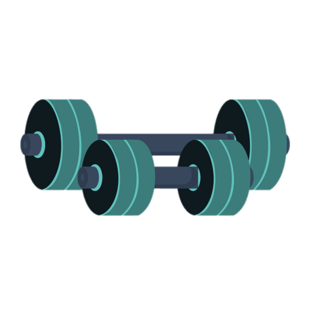 Green barbells transparent png. Dumbbell clipart exersise