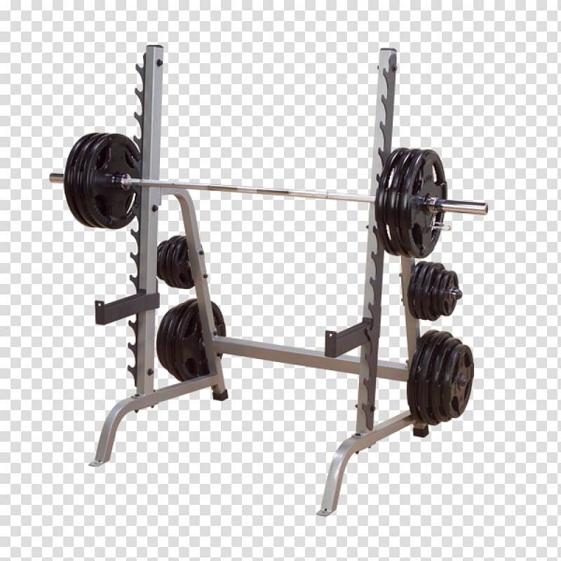 Power squat bench exercise. Barbell clipart weight rack