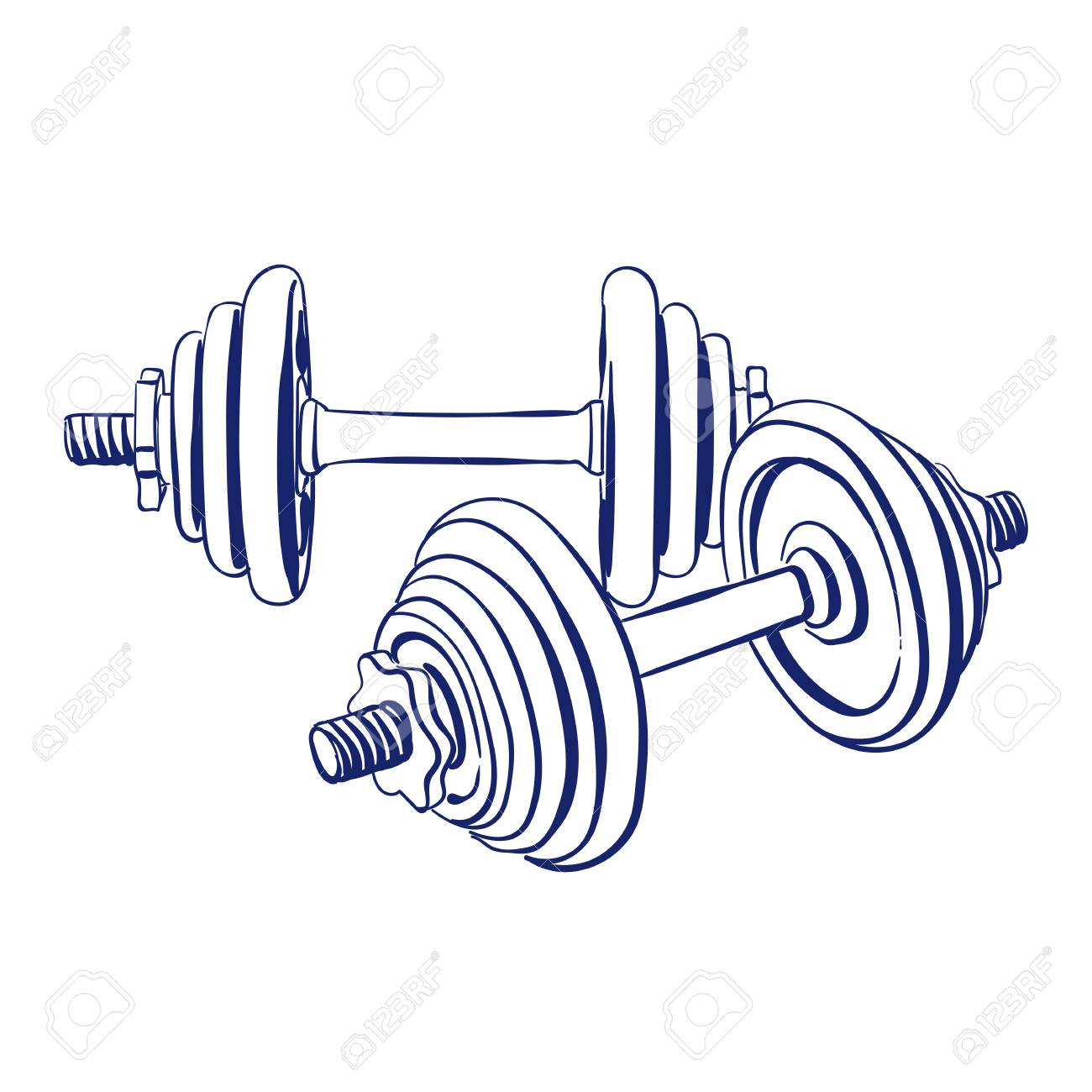Barbell clipart weight rack. Weights drawing at getdrawings