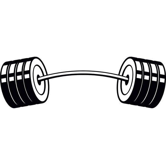 Pin on manoj . Weight clipart curved barbell
