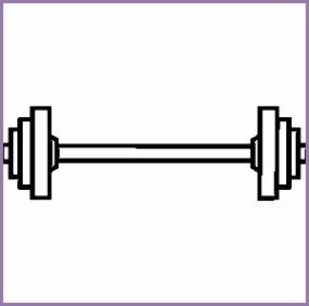 bar weights work. Barbell clipart wieght