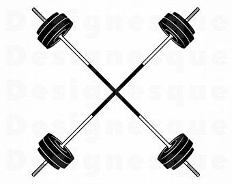 Etsy . Barbell clipart wieght