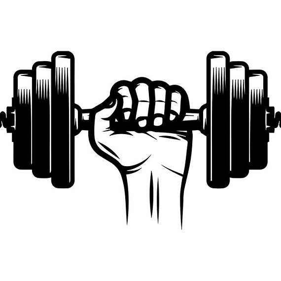 Weight clipart gym weight. Dumbbell hand weightlifting bodybuilding