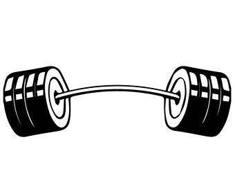 Kettlebell equipment fitness workout. Dumbbell clipart barbell crossfit