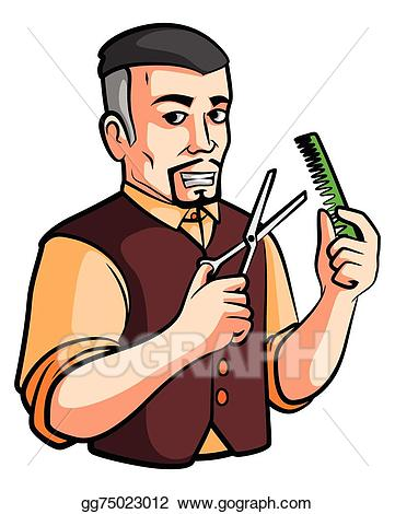 Vector shop illustration gg. Barber clipart