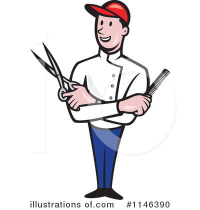 Barber clipart. Illustration by patrimonio royaltyfree