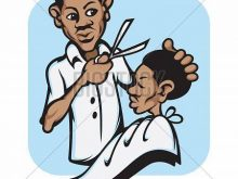 Barber clipart animated. Funny cartoon holding scissors
