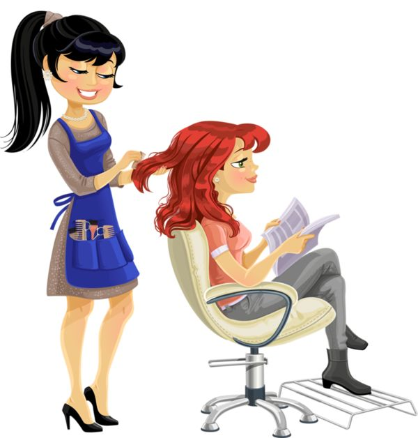 best people characters. Barber clipart animated