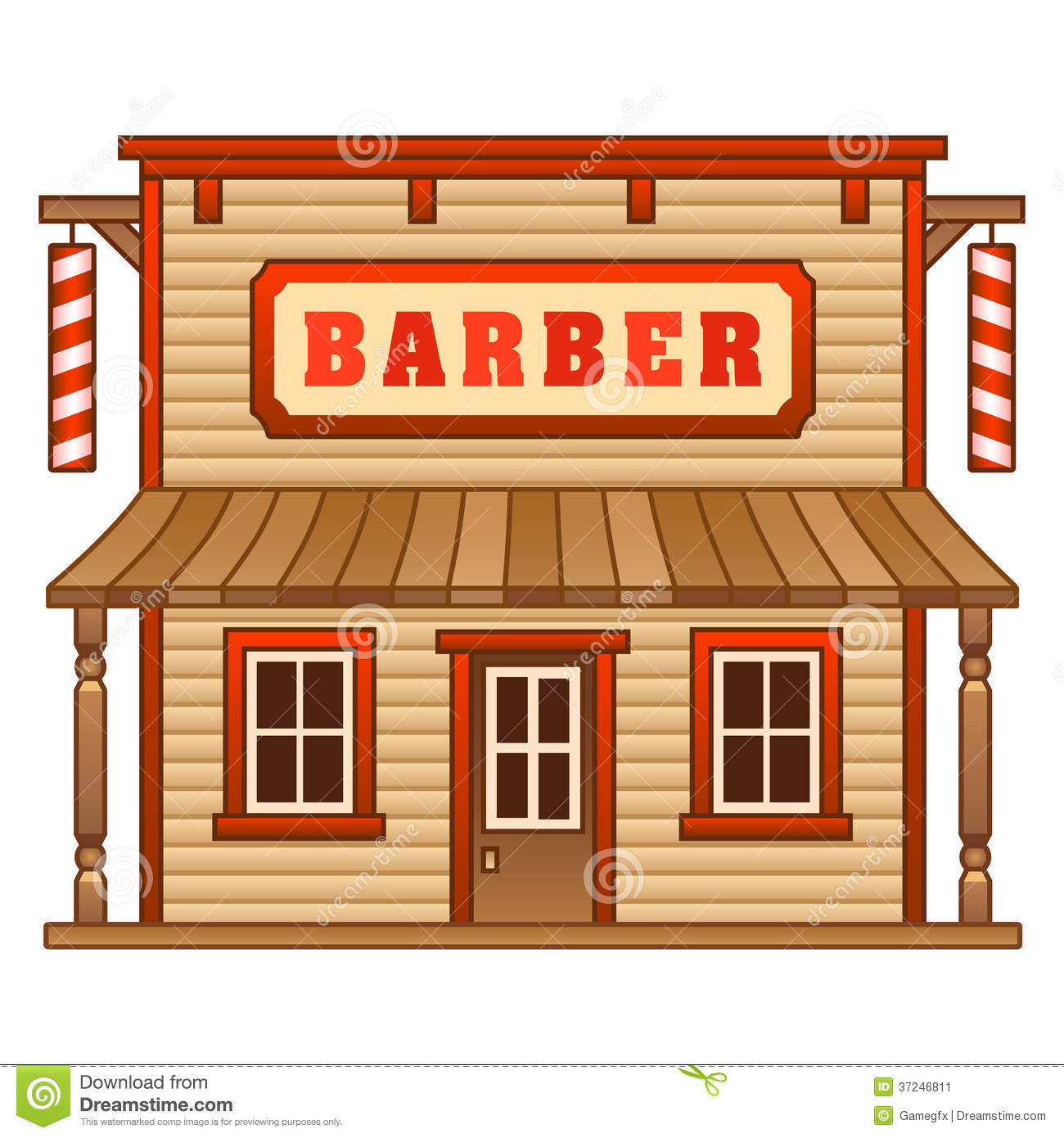 Wild west building free. Barber clipart animated