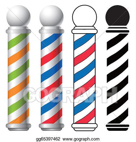 Barber clipart barber salon. Vector shop pole illustration