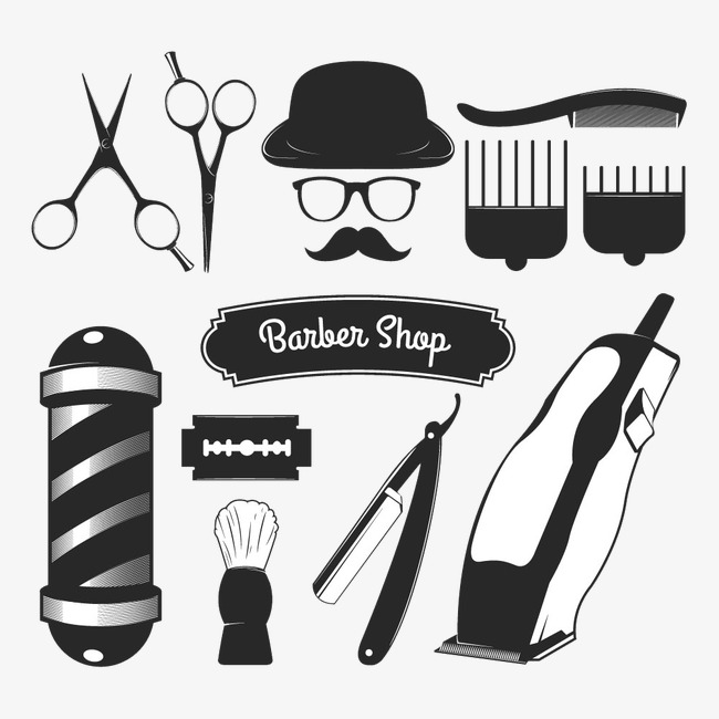 Tool clipart shop tool. Barber tools icon image