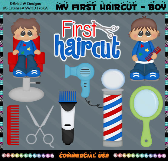 Barber clipart boy haircut. My first shop instant
