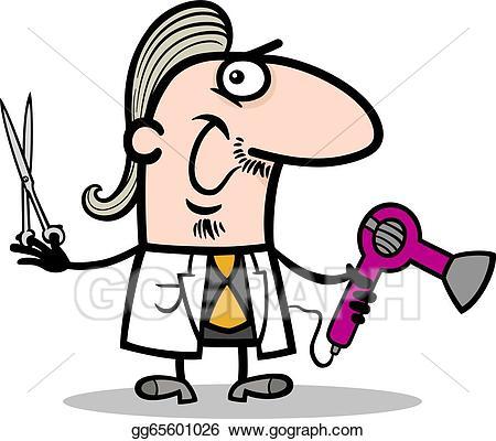 Eps illustration hairdresser . Barber clipart cartoon