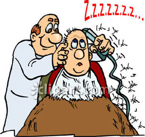 Barber clipart cartoon. Of a using electric