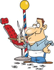 Of a royalty free. Barber clipart cartoon