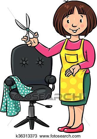 Barber clipart clip art. Of funny hairdresser or