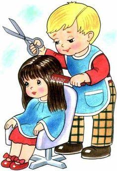 Kuch r profesie pinterest. Barber clipart community helper