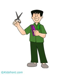 Barber clipart community helper. Mechanic theme workers and