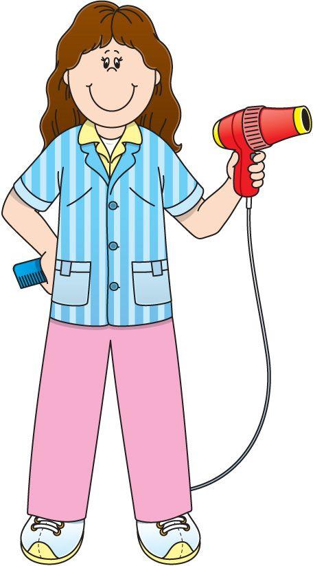 Hairstylist jpg occupation pinterest. Barber clipart community helper