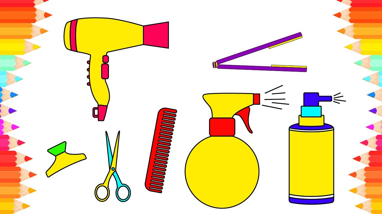 Barber clipart drawing. How to draw easy