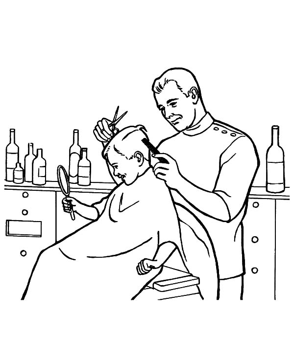 Barber clipart drawing. Jobs at getdrawings com