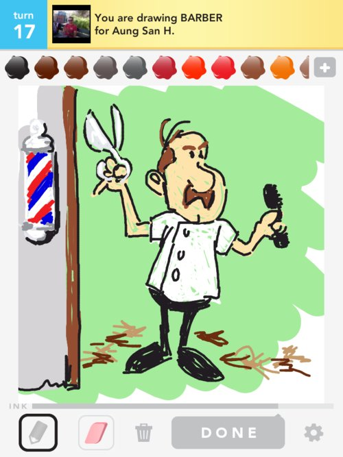Drawings the best draw. Barber clipart drawing
