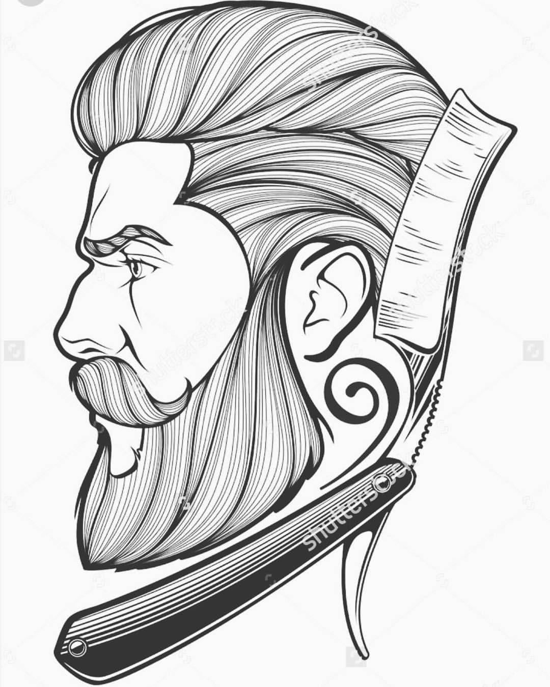 Barber clipart drawing. Nice a board tattoo