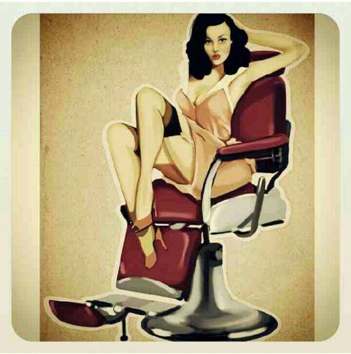 best liz the. Barber clipart female barber