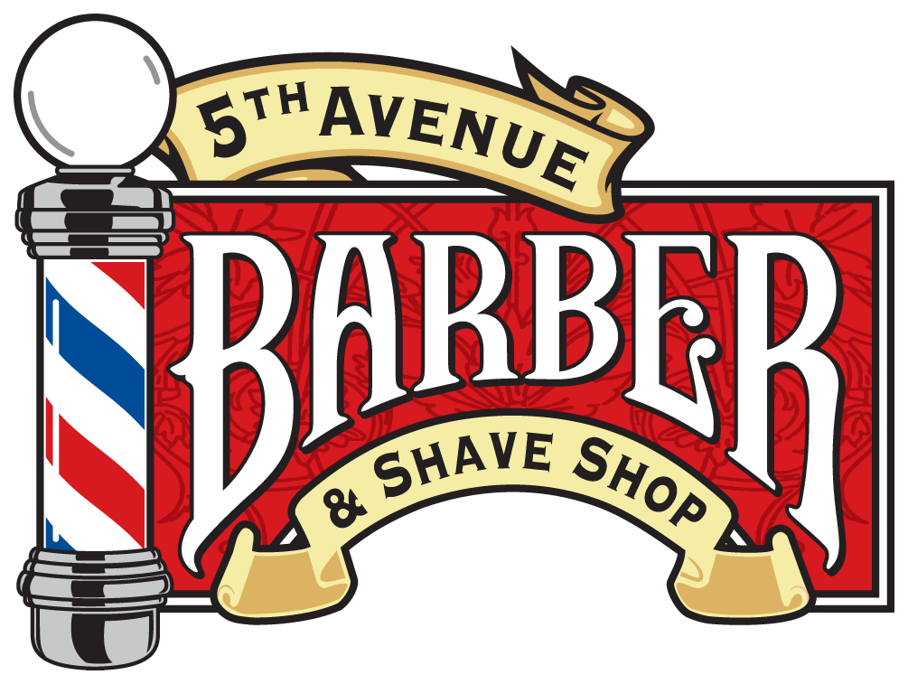 th avenue shave. Barber clipart female barber