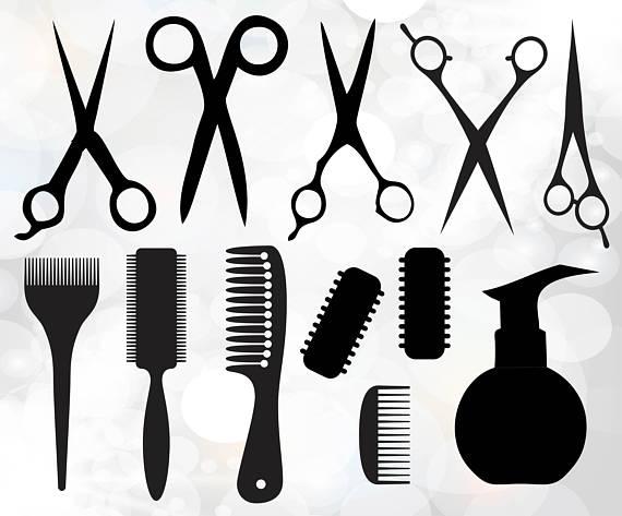 Barber clipart file. Hairdresser svg salon digital
