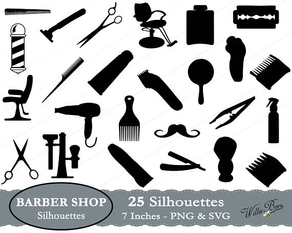 Shop silhouette images inches. Barber clipart file