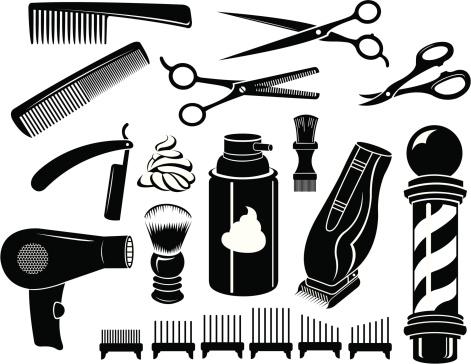 Shop clip art free. Barber clipart instruments