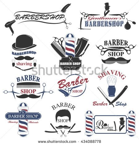 Barber clipart instruments. Barbershop tool collection set