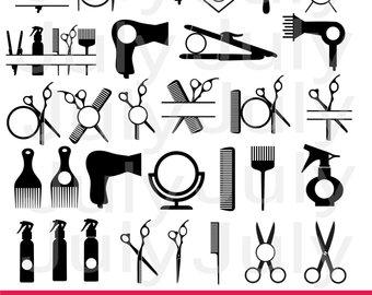 Hair salon tools png. Barber clipart instruments