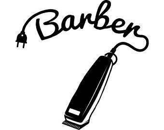 Svg etsy logo salon. Barber clipart instruments
