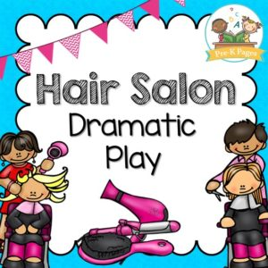 Barber clipart kid. Dramatic play hair salon