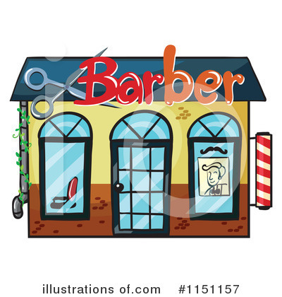 Barber clipart logo. Shop illustration by graphics