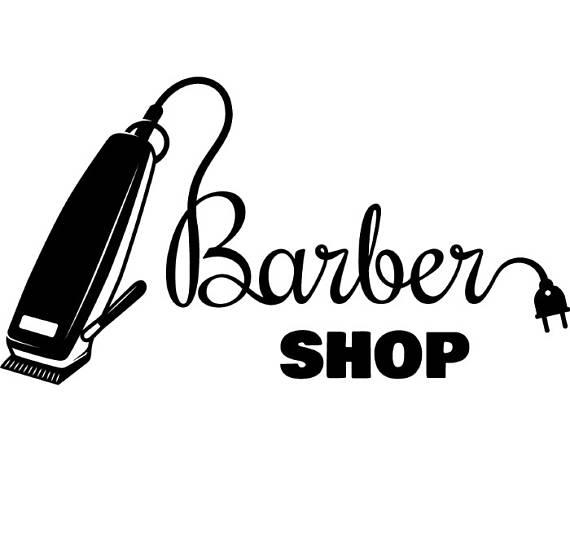 Salon shop haircut hair. Barber clipart logo