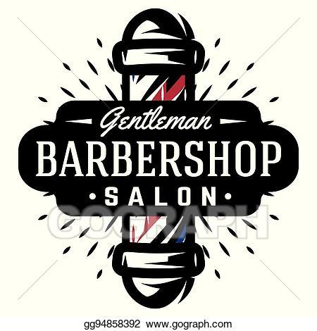 Vector stock for barbershop. Barber clipart logo